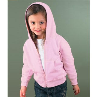 Boys' Pink Fleece Full-Zip Hood