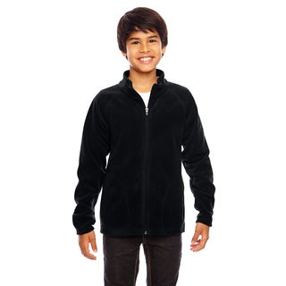 Campus Boys Black Microfleece Jacket