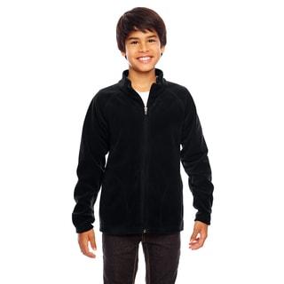 Campus Boys Black Microfleece Jacket