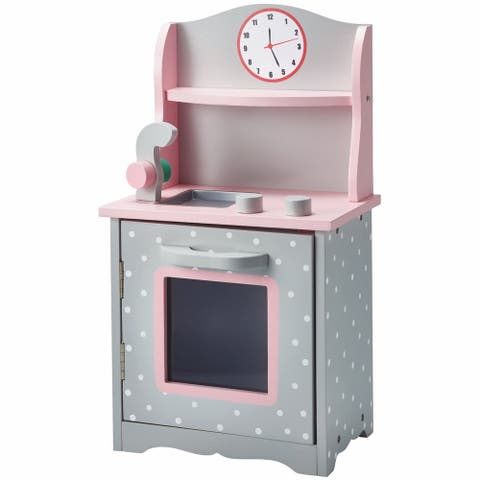 Teamson Olivia's Little World Sweet Kitchen 18-inch Doll Furniture in Grey Polka Dots