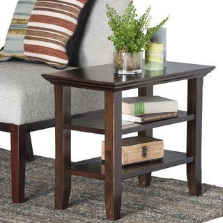 WYNDENHALL Normandy Solid Wood 14 inch Wide Rectangle Rustic Narrow Side Table - 14 Inches wide