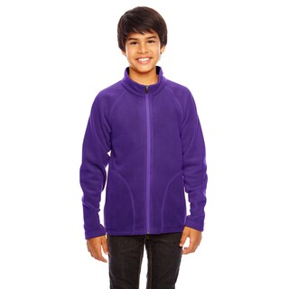 Campus Boy's Purple Microfleece Sport Jacket