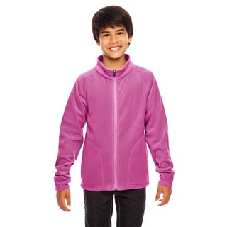 Campus Boys' Pink Microfleece Sport Jacket