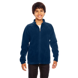 Campus Boys' Dark Navy Microfleece Sport Jacket