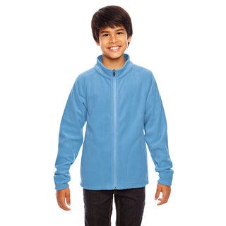 Campus Boys' Light Blue Microfleece Sport Jacket