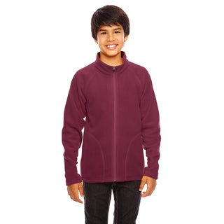 Campus Boys' Maroon Microfleece Sport Jacket