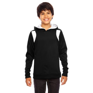 Elite Boys' Performance Black/White Hoodie