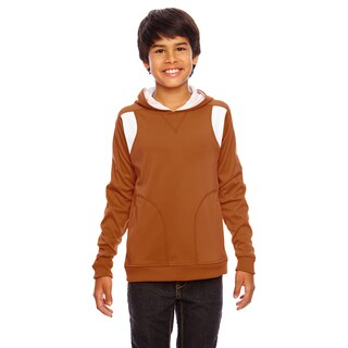 Elite Boy's Burnt Orange/White Performance Sport Hoodie
