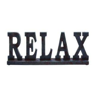 Wood 'Relax' Sign