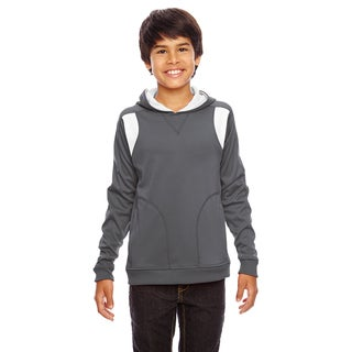 Elite Boys' Graphite/White Polyester Performance Sport Hoodie