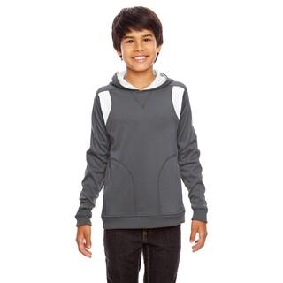Elite Boys' Graphite/White Polyester Performance Sport Hoodie