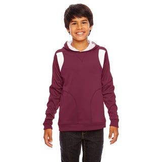 Elite Boy's Performance Hoodie Sport Maroon/White