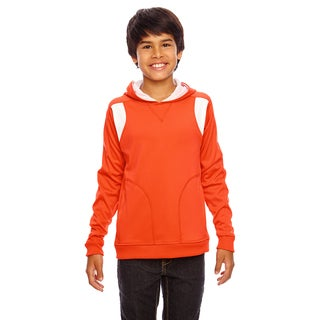 Elite Boys' Orange/White Cotton-blend Performance Sport Hoodie