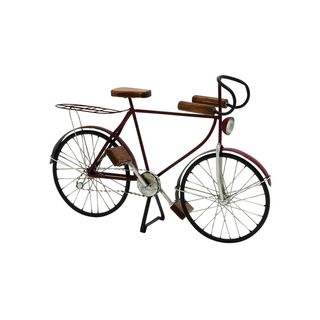 Copper Grove Chatfield Metal and Wood Decorative Bicycle