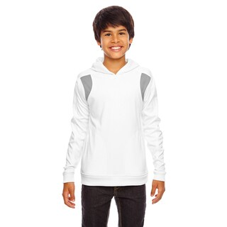 Elite Boy's White/Sport Graphite Performance Hoodie