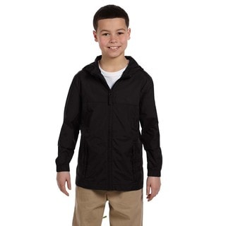 Essential Boys' Black Nylon Rainwear