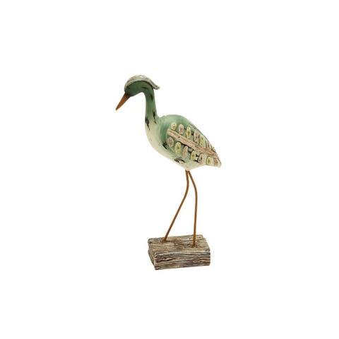 Copper Grove Sharbot Rustic Polystone Sea Bird on Stand