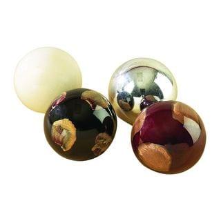 Modern Reflections Goldtone Ceramic Balls