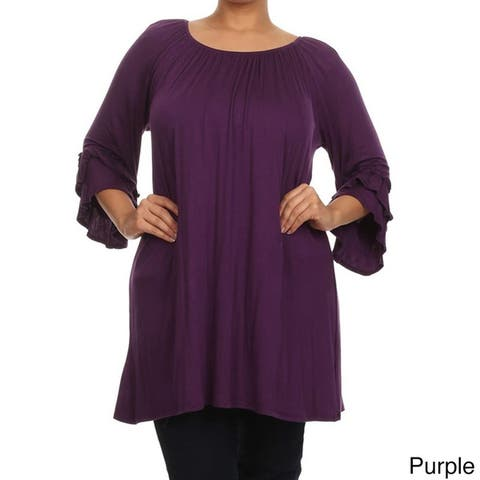 aa208dae01f Buy Purple Women s Plus-Size Tops Online at Overstock