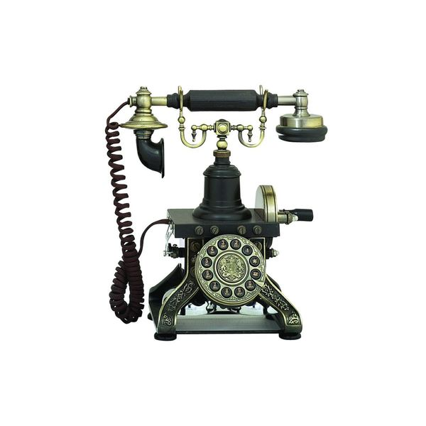 Brass 12-inch Functional Antique Phone