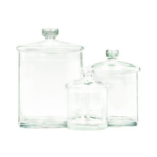 Glass Jars 5, 7, 9 Inches High (Set of 3)