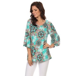 Women's Multi-Color Ornate Floral Top