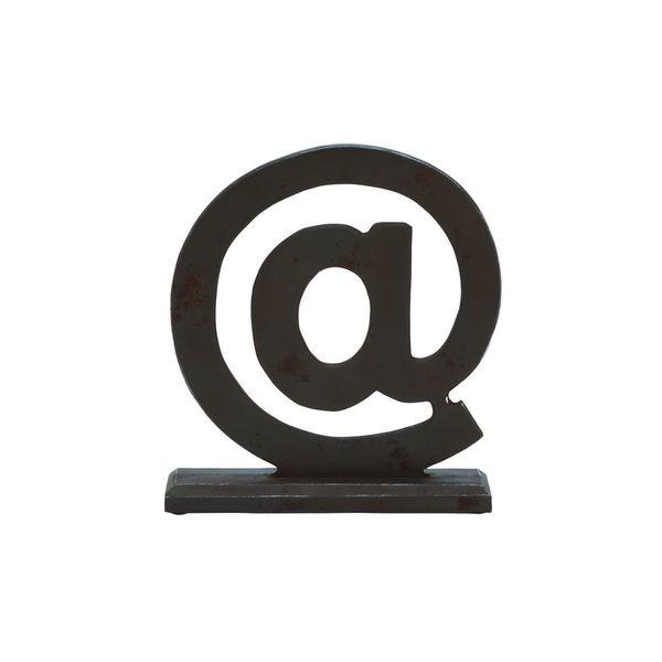 Black MDF Wood 13-inch x 11-inch 'At' Symbol