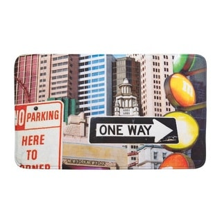 New York Tall Buildings Floor Mat