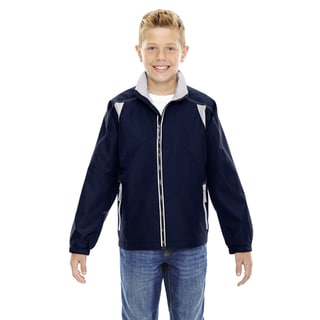 Endurance Boys' Blue Polyester Lightweight Colorblock Jacket