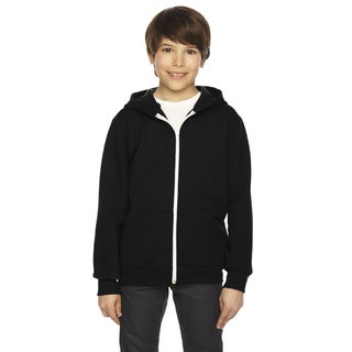 Flex Boys Black Fleece Zip Hoodie