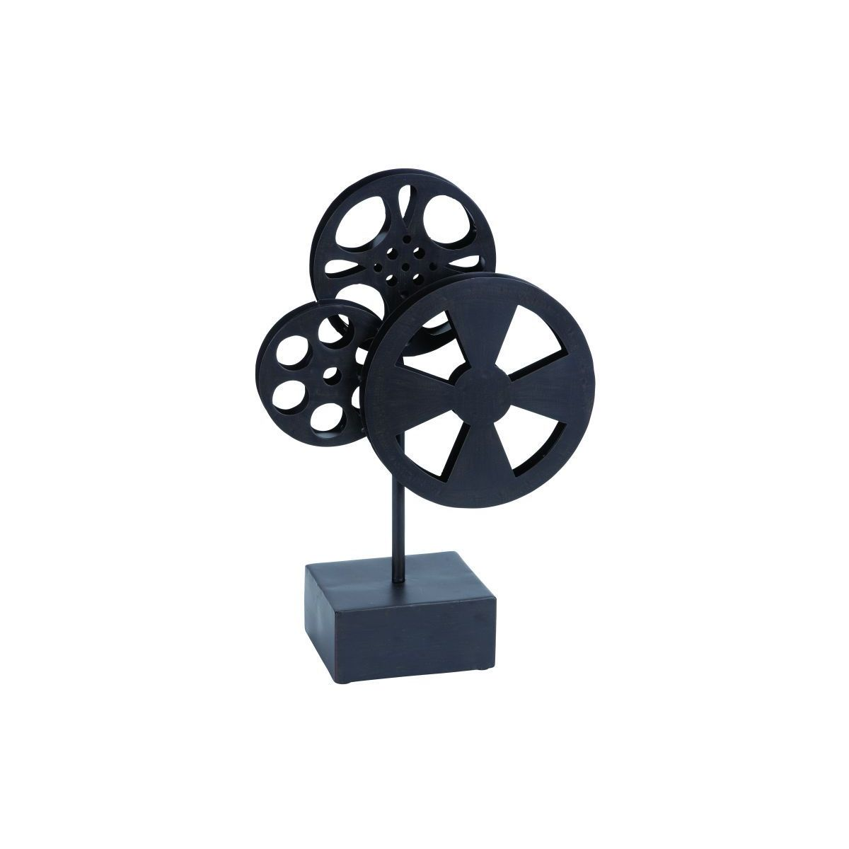 Vintage Reflections Rustic Iron Deco Movie Reels
