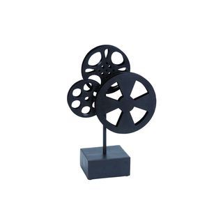 Vintage Reflections Rustic Iron Deco Movie Reels - Thumbnail 0