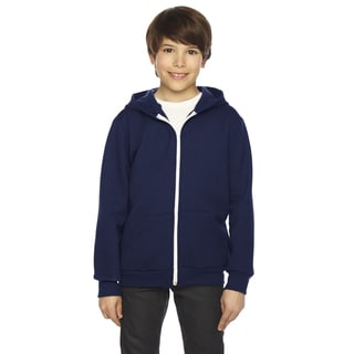 Flex Boy's Navy Fleece Zip Hoodie