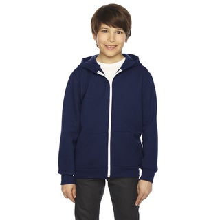 Flex Boy's Navy Fleece Zip Hoodie (Option: 10)