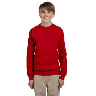 Youth Comfortblend Boys' Deep Red Ecosmart Crewneck Sweatshirt