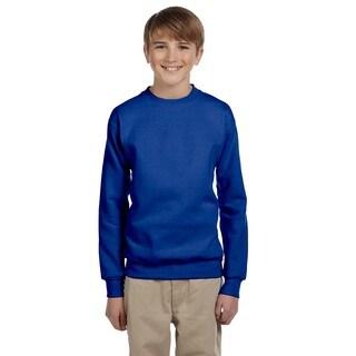 Hanes Youth Boys' Comfortblend Ecosmart Crewneck Sweatshirt Deep Royal