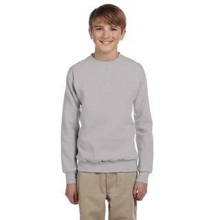 Hanes Boys' Comfortblend Light Steel Ecosmart Crewneck Sweatshirt