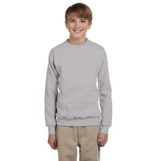 Hanes Boys' Comfortblend Light Steel Ecosmart Crewneck Sweatshirt