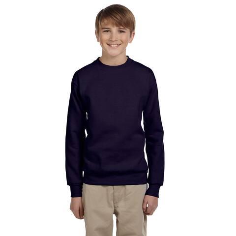 Youth Comfortblend Boys' Navy Ecosmart Crewneck Sweatshirt