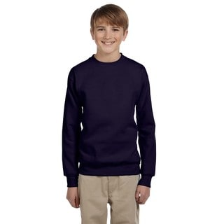 Youth Comfortblend Boys' Navy Ecosmart Crewneck Sweatshirt