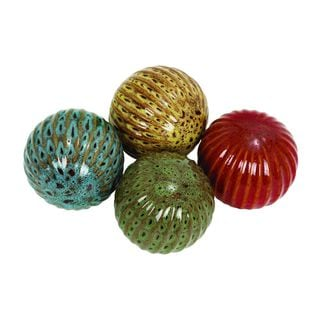 Ceramic 4-inch Decorative Balls (Set of 4)