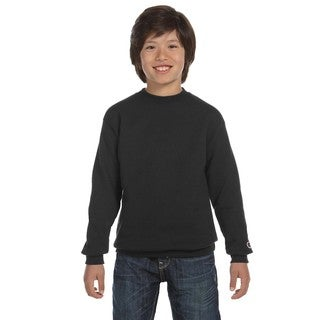 Youth Black Fleece Double Dry Action Crew