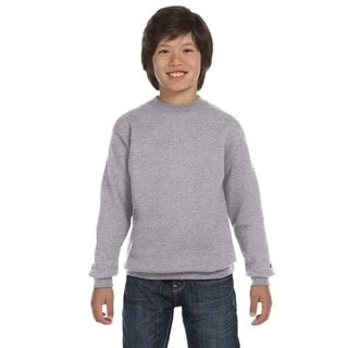 Youth Light Steel Fleece Double Dry Action Crew