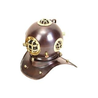 Brass 8-inch x 8-inch Diving Helmet