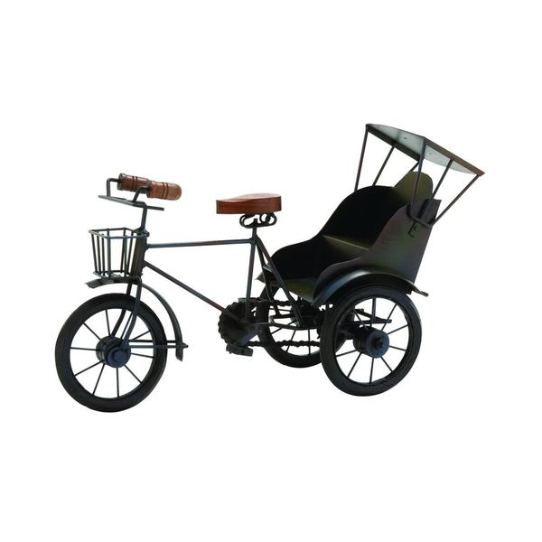 Brown Wood and Metal Tricycle Figurine