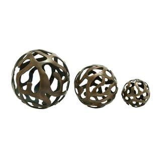Aluminum Decor Balls (Set of 3)