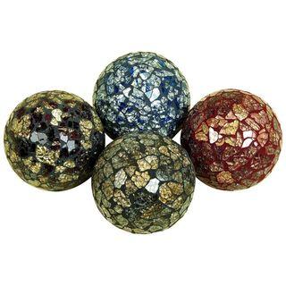 4-inch Decorative Mosaic Ball (Set of 4)