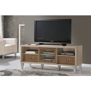 Eastwest Living Hall White/ Brown Media Cabinet