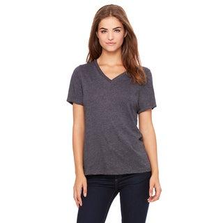 Missy's Girl's Dark Grey Heather Relaxed Jersey Short-sleeve V-neck T-shirt