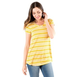 DownEast Basics Striped Anytime Tee